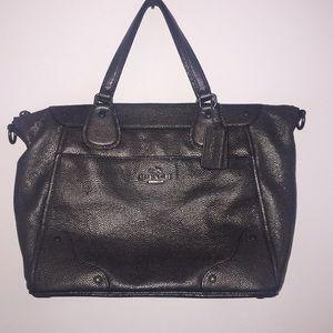 Coach Pebble Leather Bronze Bag